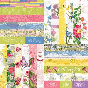 "Picture of Floral Flourish by Katie Pertiet 2"" Border Strips - Set 12"