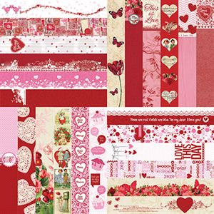 Picture of Love Collection Set of 12 - 2 x 12 Border Strips